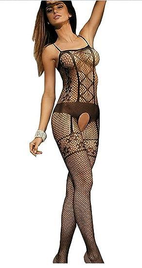 adca8a1ddae Amazon.com  SGirl Sexy Fishnet Open Crotch Corest Bodystocking ...