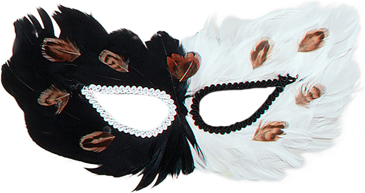 Black and Brown Feather Eyemask