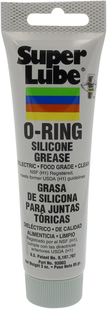 Super Lube 93003 O-Ring Silicone Grease, Translucent White