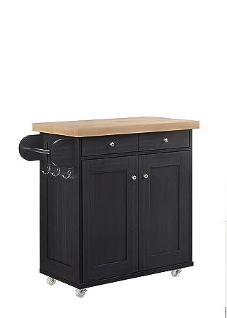 Amazon De Lpd Furniture Tragbar Kuche Insel Auf Radern Storage