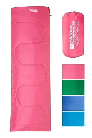 Mountain Warehouse Saco de Dormir Basecamp para Acampar tamaño Mini - 160 x 65 cm, ...