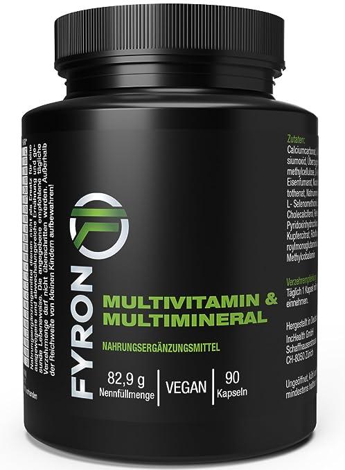FYRON Multivitamínico - 23 Vitaminas & Minerales - Vegano sin aditivos