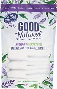 Good Natured Brand THE BEST All-Natural Eco-friendly Lavender and Eucalyptus Laundry Soda/Detergent 48 load bag 30 oz.
