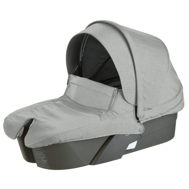 Stokke Xplory Carry Cot Silver, Grey Melange