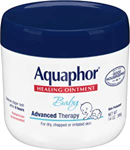 Aquaphor Baby Healing Ointment - Advance Therapy for Diaper Rash, Chapped Cheeks and Minor Scrapes - 14. Oz Jar