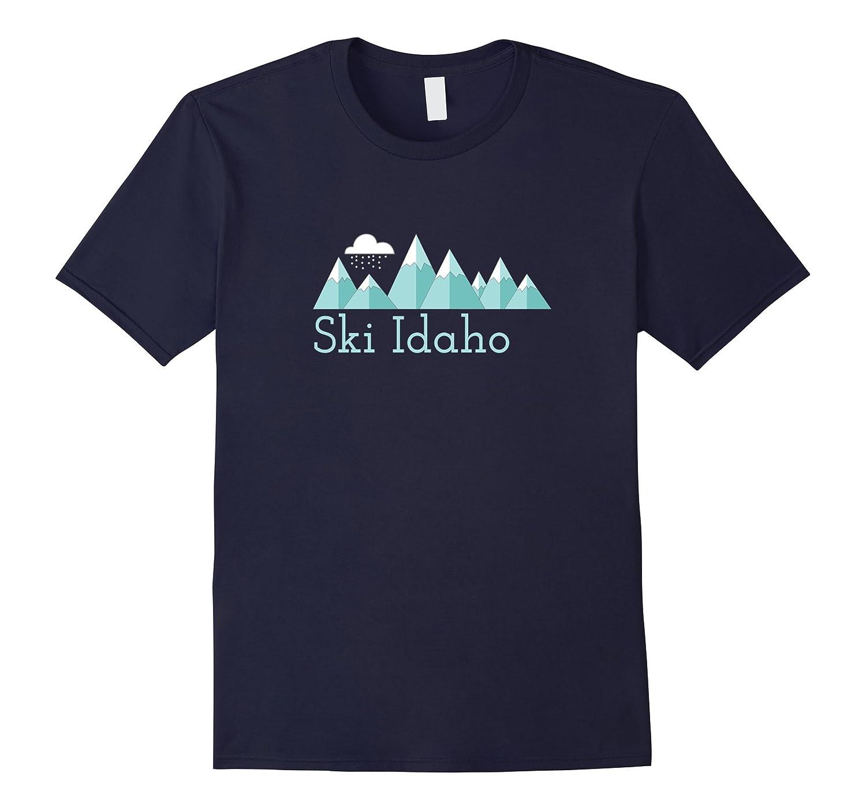 Mens Mountain Snowstorm Idaho Shirt-Awarplus
