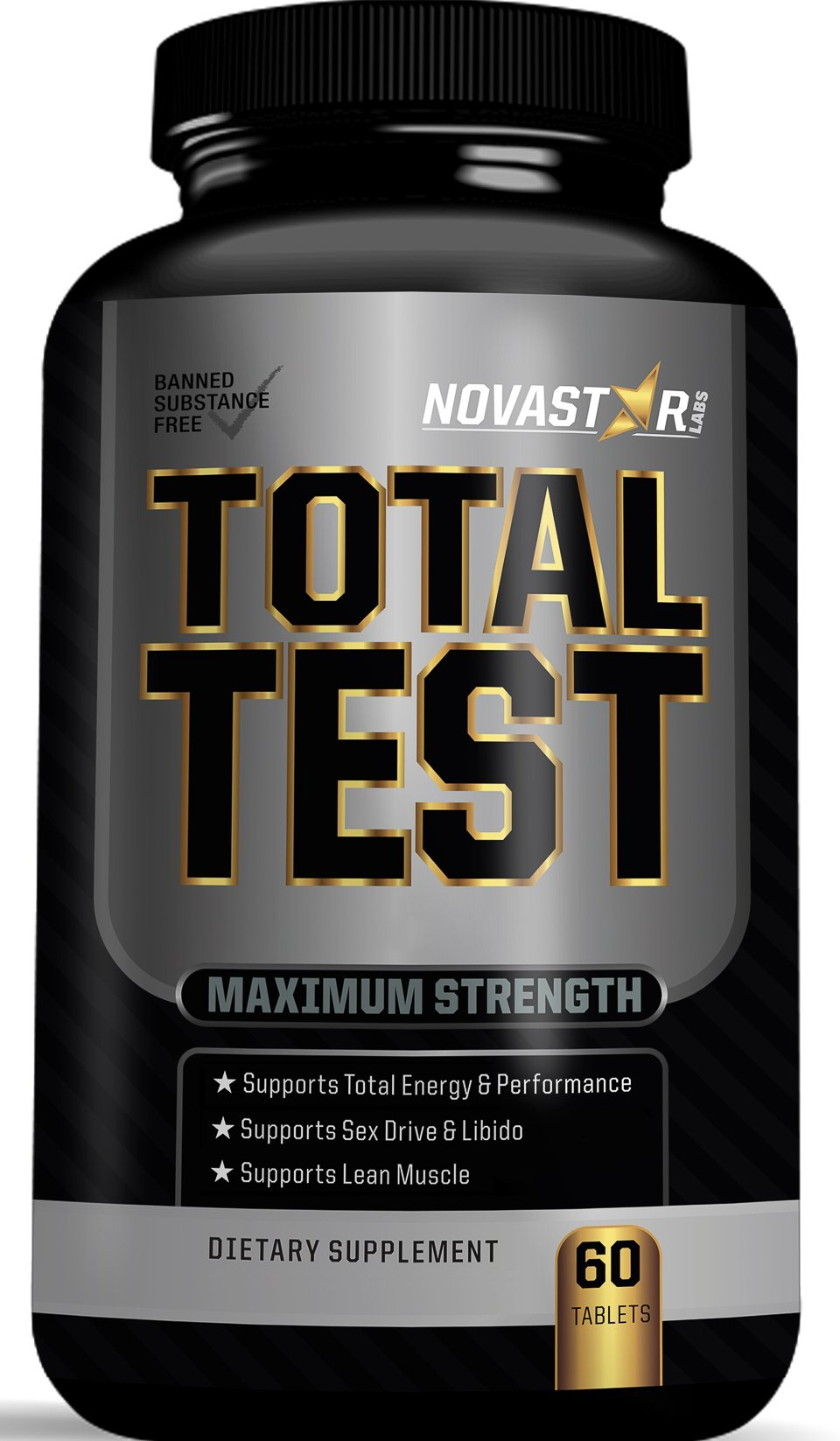 Testosterone Booster by Novastar Labs, Supports Testosterone Production, Enhances Strength, Endurance, Energy, Optimizes Male Performance Libido, Non-GMO, GMP Certified, Made in the USA, 60 Caps