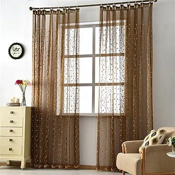 GUOCAIRONG® Solide Tüll Vorhänge für Schlafzimmer Tüll Fenster ...