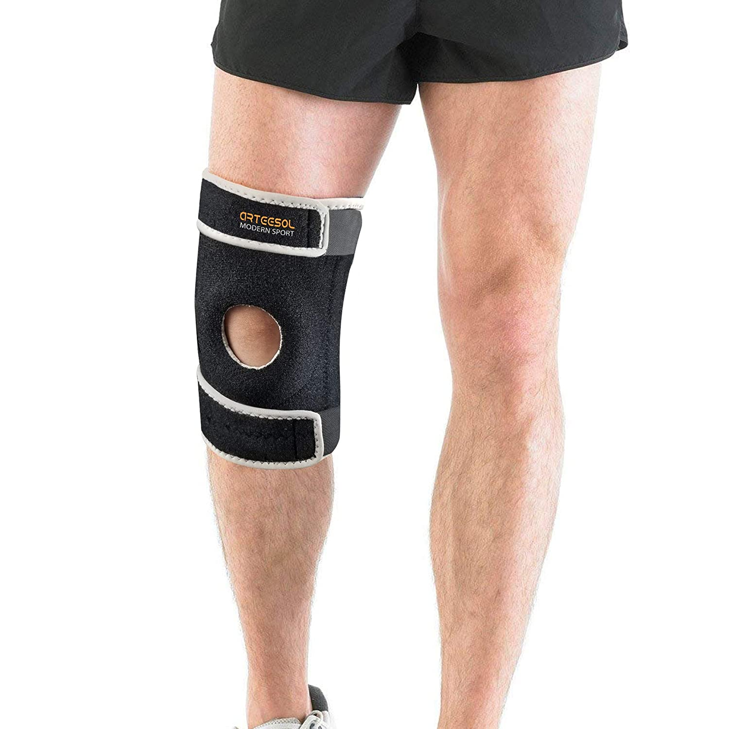Sports Injury Rehabilitation /& Protection VIPFAN Knee Support Adjustable Kneepad Brace 1 Pair for Running Walking Cycling Basketball and Knee Safety Pain Relief
