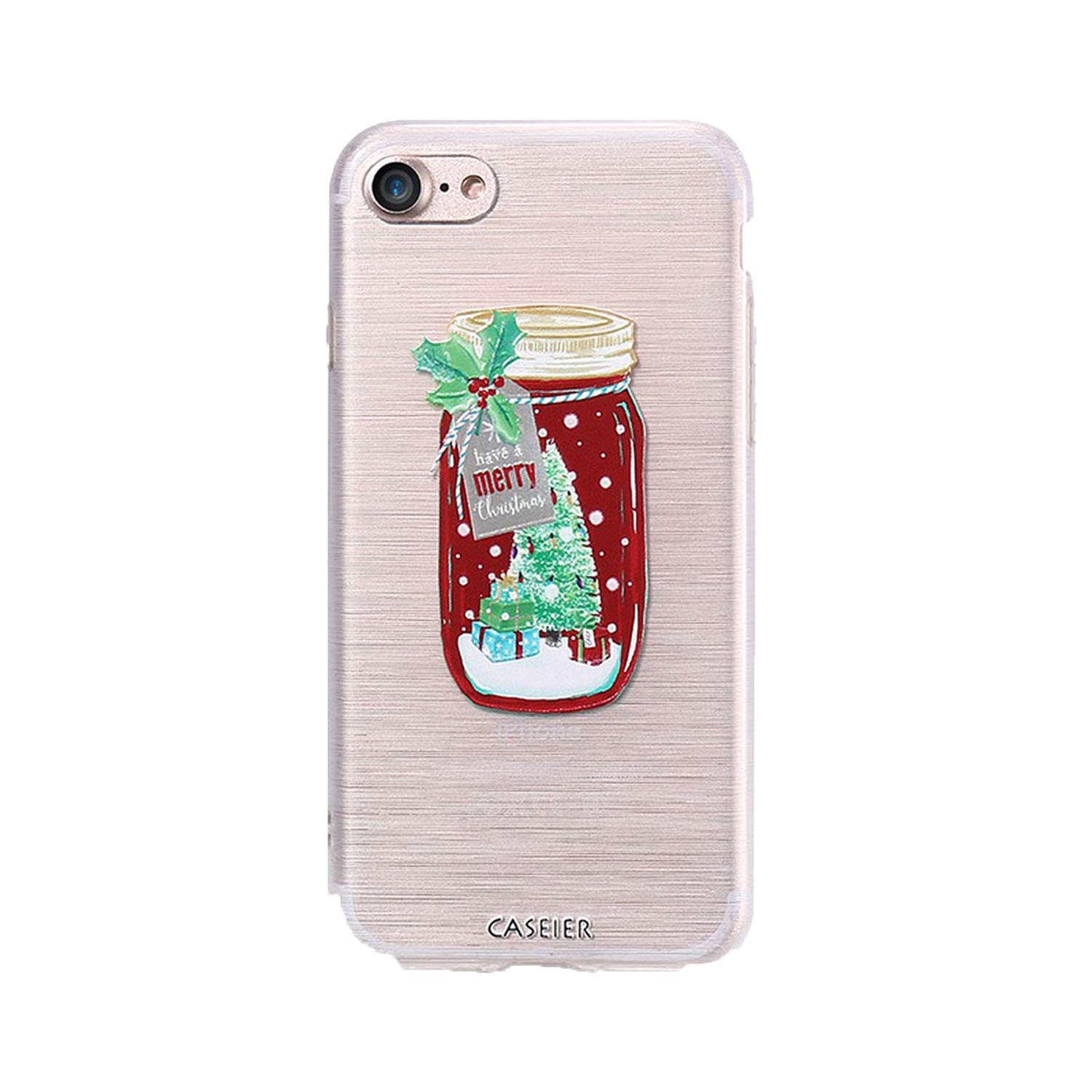 Christmas Style Case for iPhone 6 6s 7 8 Plus Silicone 3D Cases for iPhone X 10 5 5s SE Cover Soft Conque Shell,Christmas Bottle,for iPhone 7