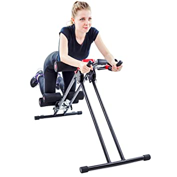 TechFit - Dispositivo Modelador para Abdomen Plegable, Equipo de Fitness Vertical, Ab Trainer,