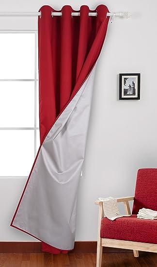 Deconovo Oxford Vorhnge Fr Wohnzimmer Thermovorhang Gardinen 240x140 Cm Rot