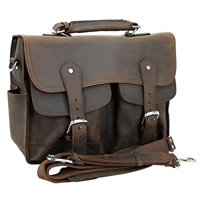 well-wreapped Vagabond Traveler Oil Tanned Cowhide Leather Pro Briefcase L41. Dark Brown