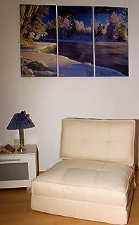 schlafsessel gästebett jugendsessel (weiß, klein): amazon.de ... - Bettsessel Kinderzimmer Gastebett
