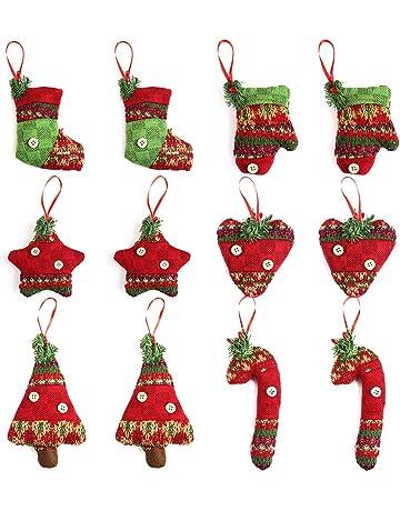 Christmas Fabric Reindeer Character Drawstring Totes 2 Pack Backpacks & Bags