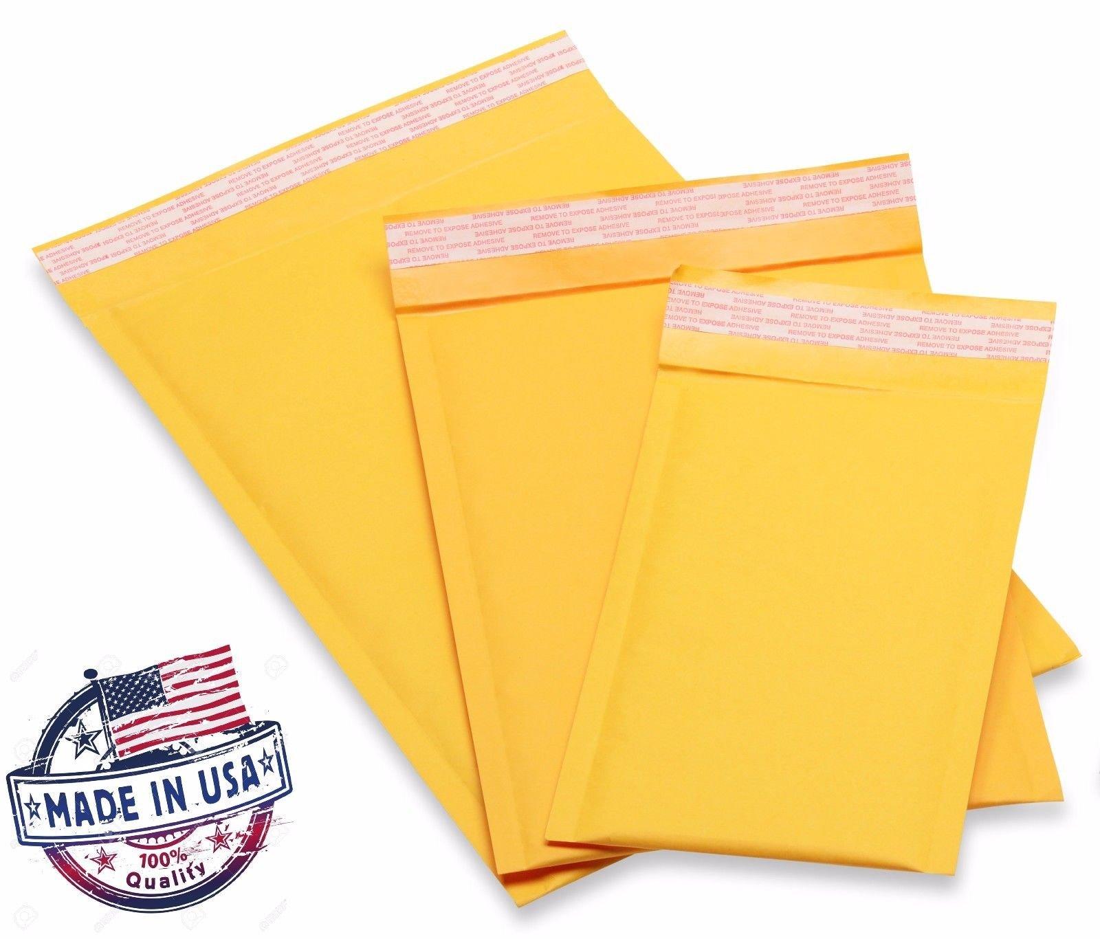 Kraft Bubble Mailers Padded Bubble Envelopes for Ebay Paypal Shipping Envelopes Sizes #0#00#000#1#2#3#4#5#6! (50#7-14.25'' X 20'')