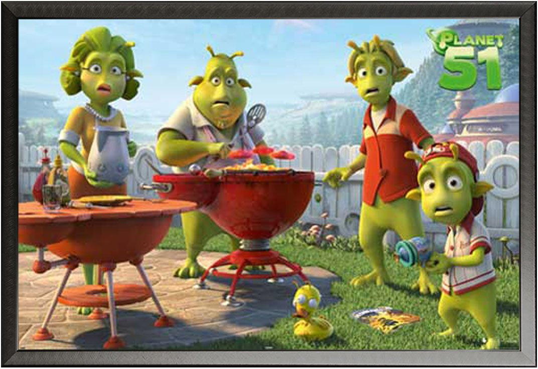 Planet 51 - BBQ - cartel de cine Movie película Planet 51 ...