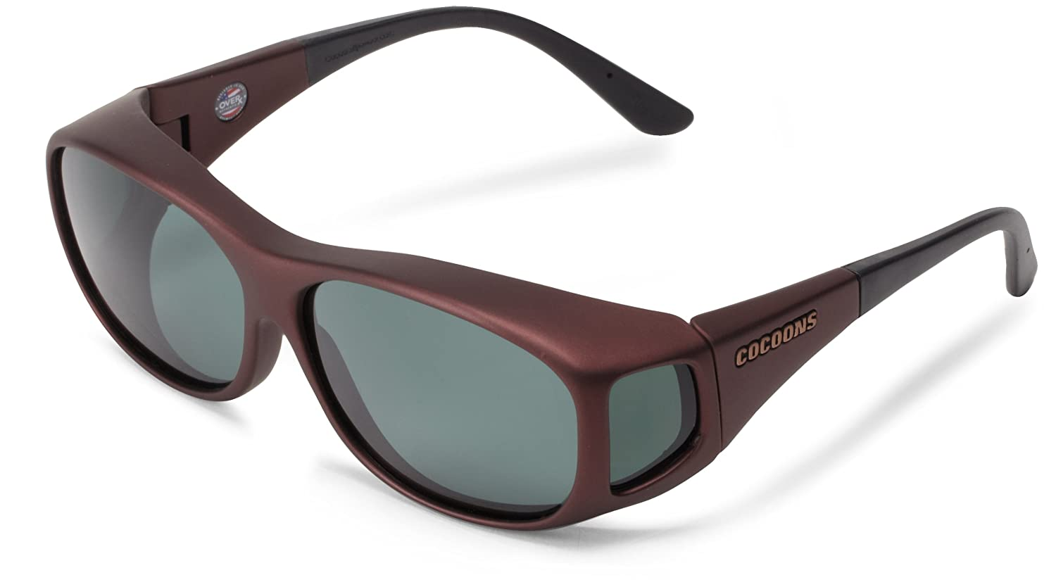 9743a739794 Amazon.com  Cocoons Med-Slim Line C408G Over-Prescription Sunglasses ...