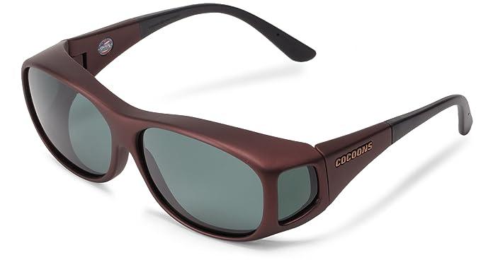 21185010362a Cocoons Med-Slim Line C408G Over-Prescription Sunglasses,Burgundy  Frame/Gray Lens