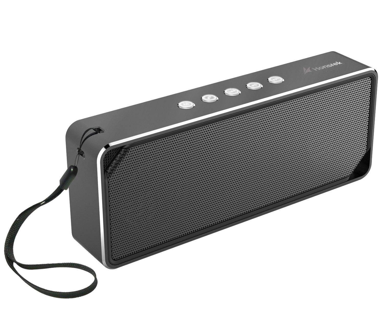 Altavoces Honstek K7 Bluetooth Altavoz portátil estéreo metálico con 5W Potencia de salida de audio desde el puerto de la tarjeta 3.5mm TF y micrófono incorporado para llamadas Compatible con Tablet PC Telefonía Computadora