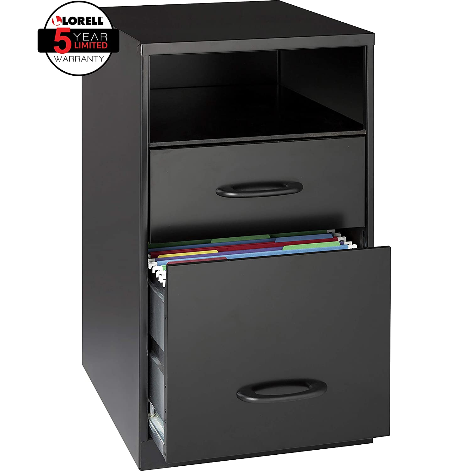 Amazon.com: Lorell 18505 2-Drawer Mobile File Cabinet with Shelf, 18 ...