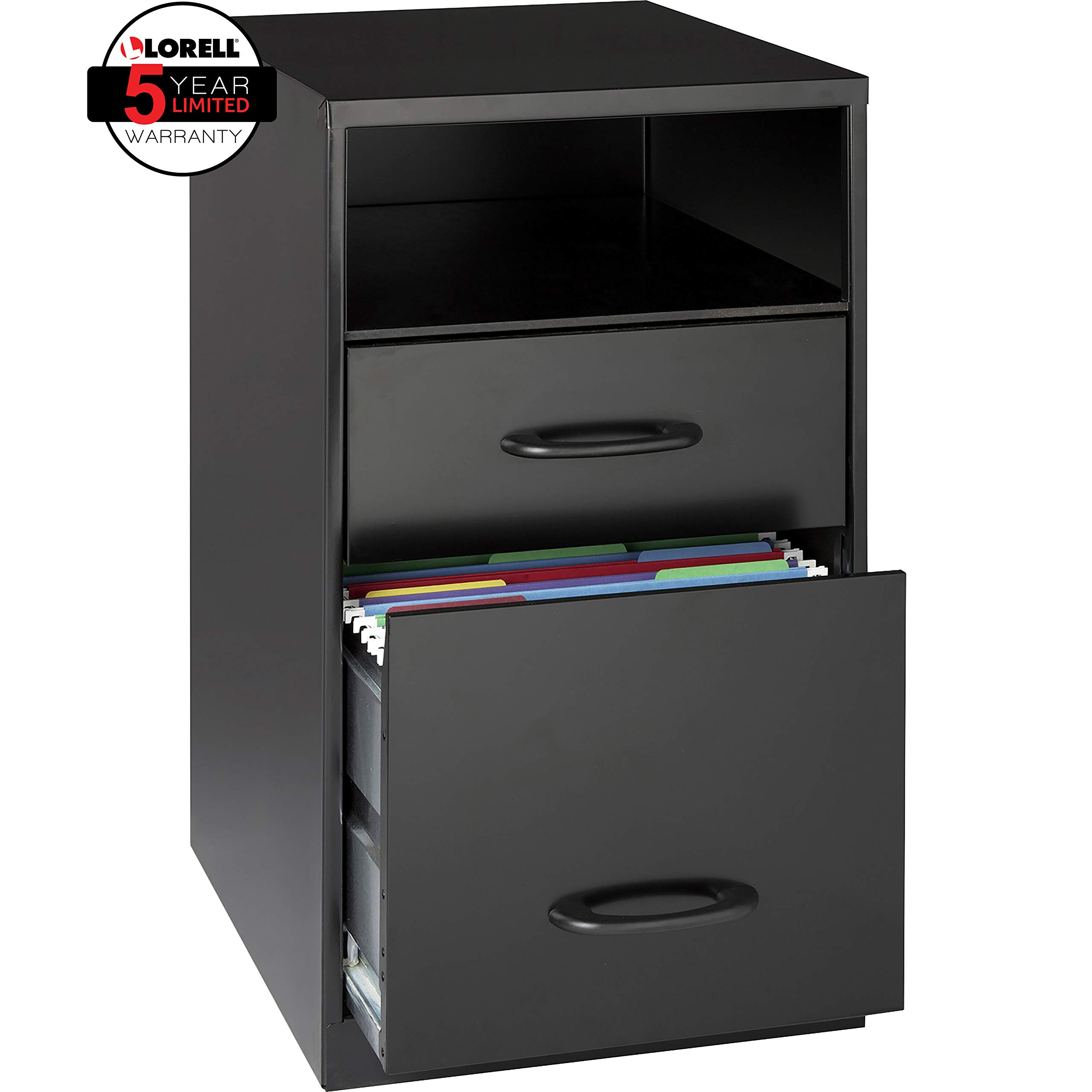 Lorell 18505 2-Drawer Mobile File Cabinet with Shelf, 18-Inch by Lorell