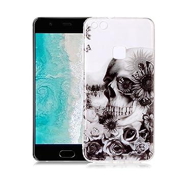 Yunbaoz Funda Compatible para Huawei P10 Lite, Transparente Protective Case Silicona Suave * Patrón Interior Nunca Despegue * Carcasa para Huawei P10 ...