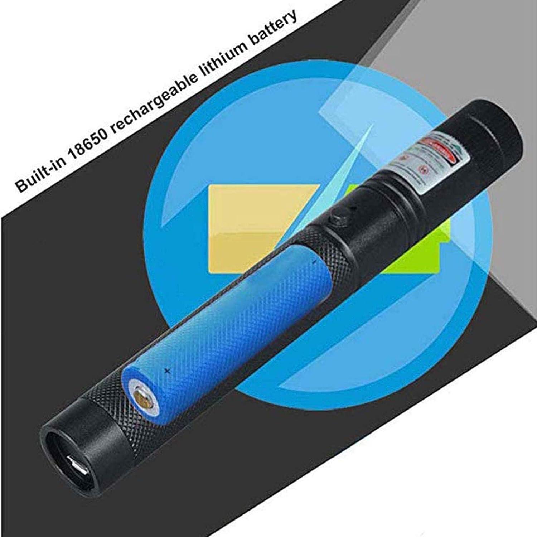 Rojo//Verde//Azul Violeta Linterna Multifuncional De Aleaci/ón De Aluminio con Zoom Giratorio con Alta Potencia ,D Carga USB XXGA Mini Linterna LED
