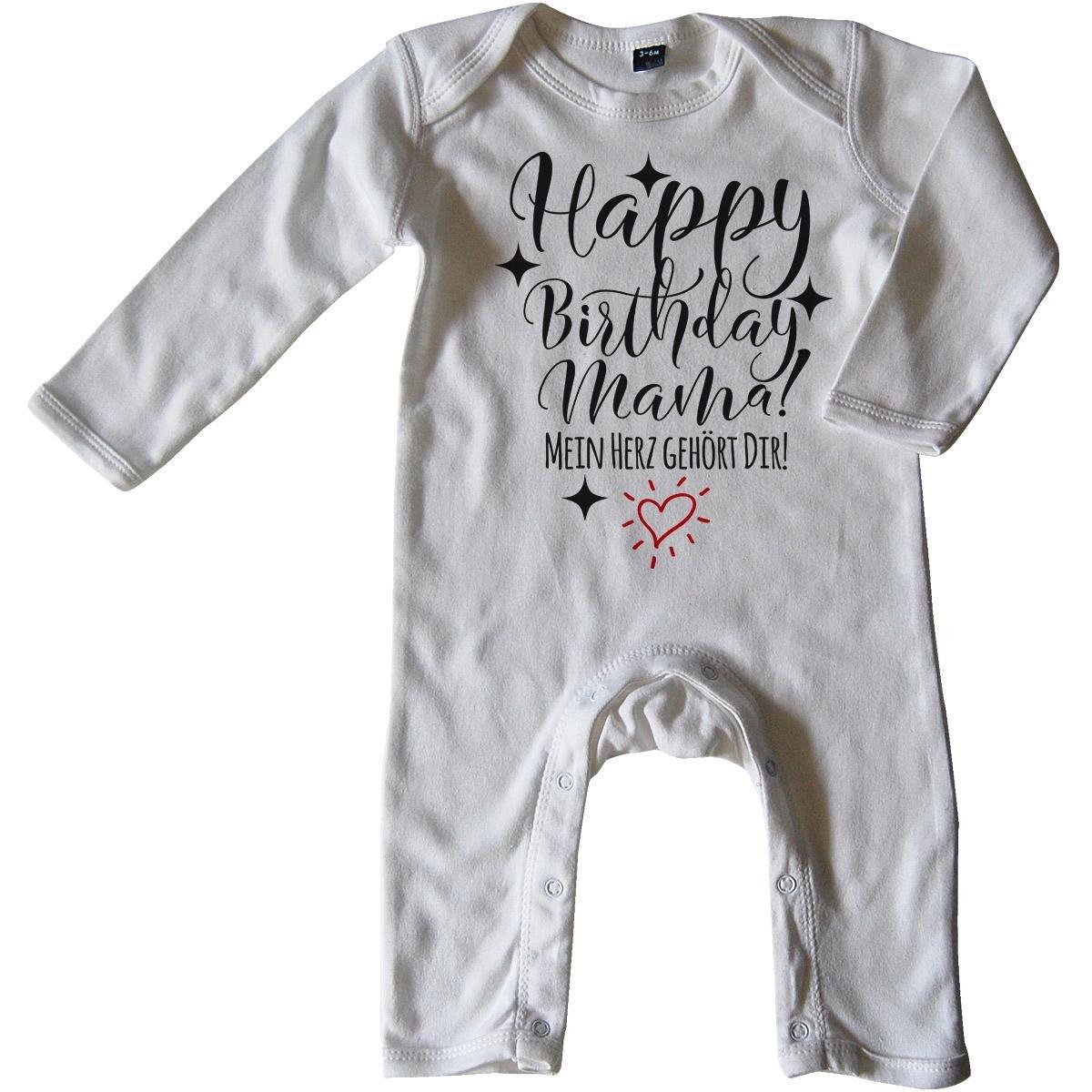 Mein Herz geh/ört Dir! Mikalino Baby Schlafanzug Happy Birthday Mama