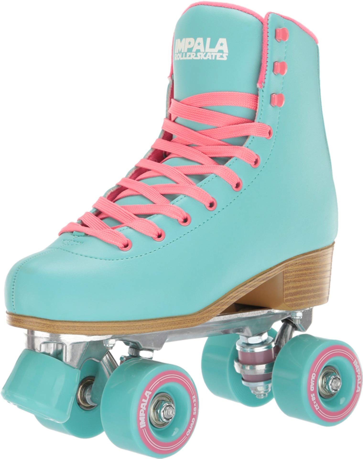 Impala Rollerskates Girl's Impala Quad Skate (Big Kid/Adult) Aqua 6 M by Impala RollerSkates