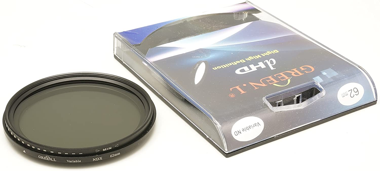 L ND2 to ND400 Variable Neutral Density Filter for Olympus M.Zuiko Digital ED 25mm F1.2 Pro Green