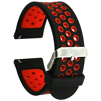Eletespt Silicone 22MM Watch Strap for Samsung Gear S3 Frontier/Classic/Gear 2/Neo/Live/Moto 360 2nd 46mm/Pebble Time/LG G Watch W100/W110/Urbane ...