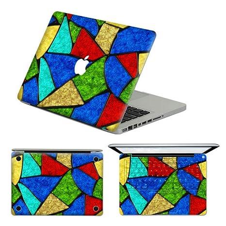 Parte superior adhesivo portátil para parte superior iglesia Ventana patrón extraíble vinilo adhesivo para MacBook Pro