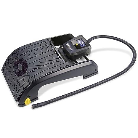 Michelin 92421 Bomba de aire de pedal, 2 cilindros con indicación digital