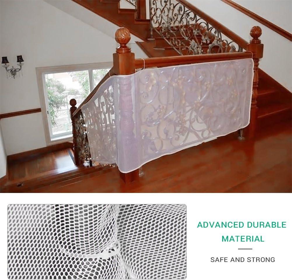 Filet de s/écurit/é Mallalah pour enfants 300 x 74cm filet de protection b/éb/é balcon escalier s/écurit/é aux jouets pour enfants chien chat coffre-fort au int/érieur ext/érieur patios ou balcon