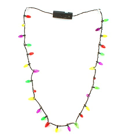 Christmas Light Necklace.Amazon Com Darice Christmas Lights Bulbs Flashing Blinking