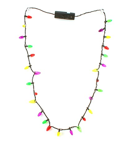 christmas lights bulbs flashing blinking necklace bracelet 3 flashing modes