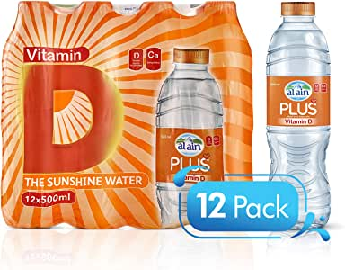 Al Ain Plus , Drinking Water with Added Vitamins D - 500 ml (Pack of 12)