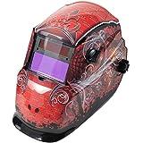 Auto Darkening Welding Helmet, Red/Black, 600S, 9 to 13 Lens Shade