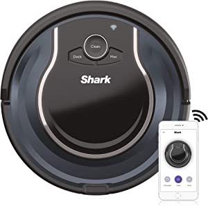 Shark ION ROBOT App-Controlled Robot Vacuum, RV761 - Black / Navy Blue (Renewed)