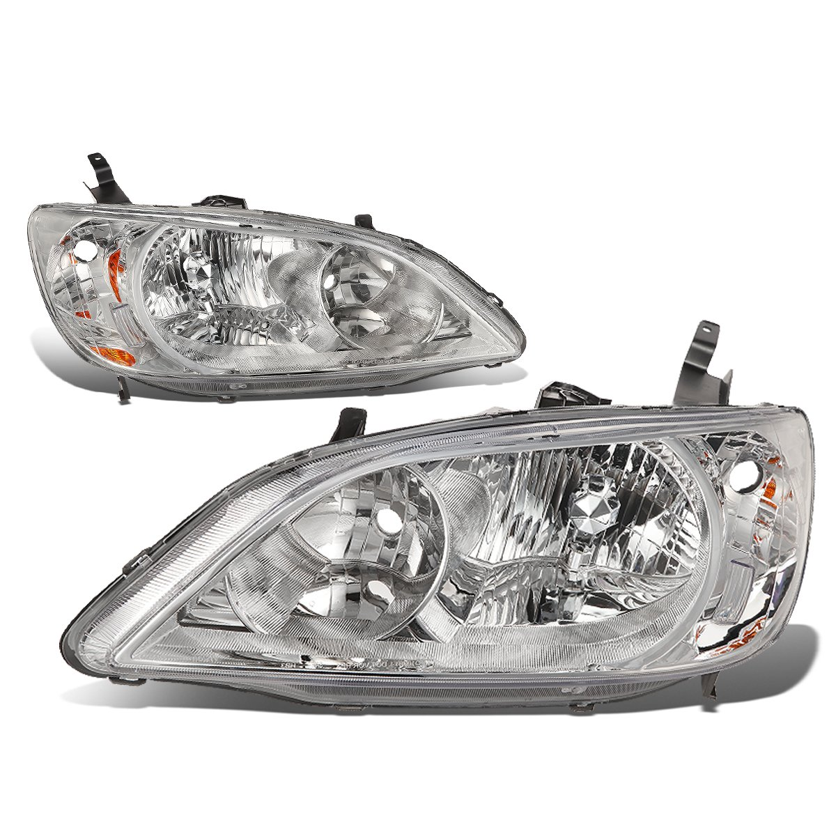 DNA MOTORING HL-OH-038-CH-AM Headlight Assembly Driver And Passenger Side