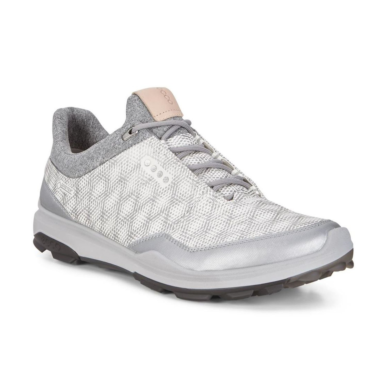 ECCO (エコー) Men's Golf Shoes メンズ ゴルフシューズ [151514] [152004] [151544] [150604] [133014] [155814] [155804] B079M2P5N1 EU43 155804-53357 WHITE/SILVER METALLIC