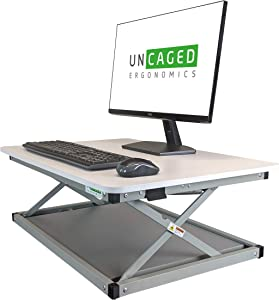 CHANGEdesk MINI Small Adjustable Height Standing Desk Converter for Laptop Macbook Single Monitor Desktop Computer portable lightweight ergonomic sit stand up corner riser affordable compact tabletop
