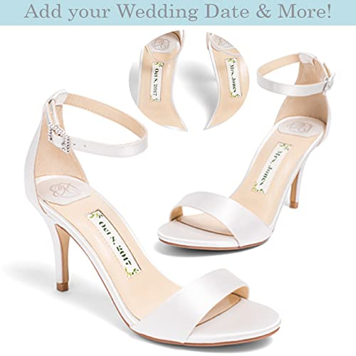 Amazon.com  Bridal Women s High Heel Ivory Satin Wedding Shoe – Kate ...