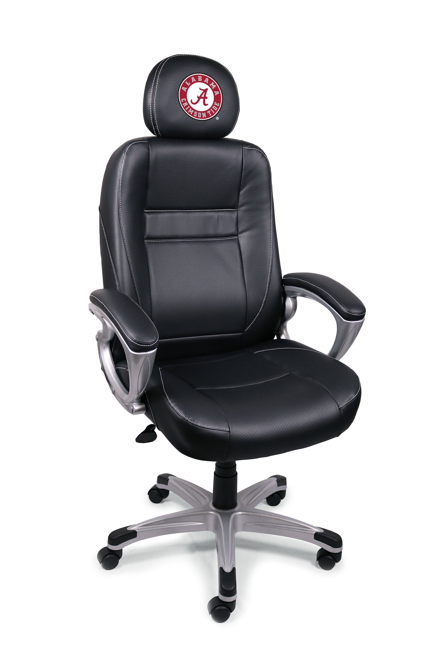 Wild Sports NCAA College Alabama Crimson Tide Leather Office Chair by Wild Sports