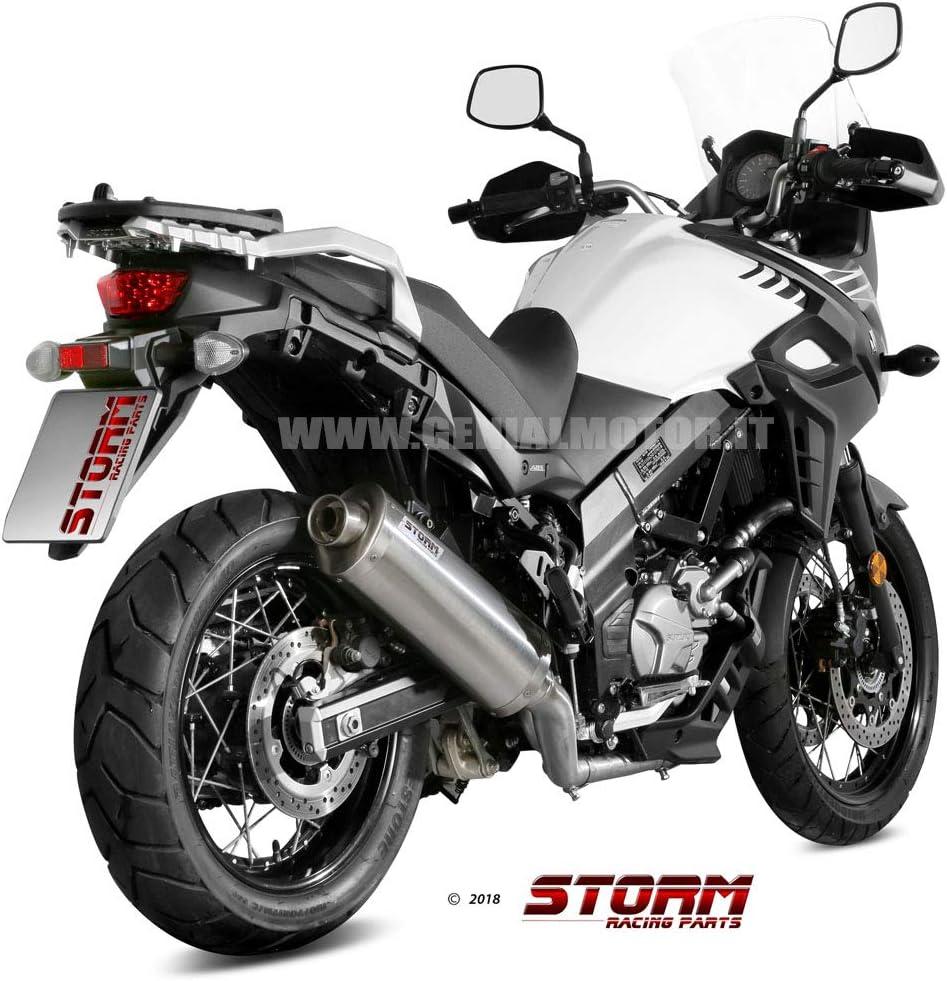 74 S 049 Lx2 Auspuff Storm By Mivv Schalldampfer Oval Stahl Dl V Strom 650 2017 17 Auto