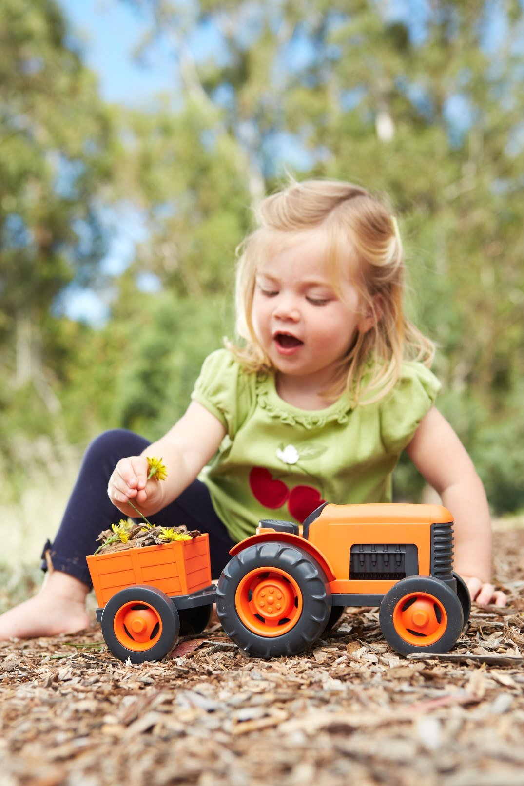 Green Toys Tractor Vehicle, Orange by Green Toys (Image #3)