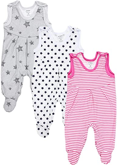 TupTam Sleeveless Baby Rompers with Prints Pack of 5