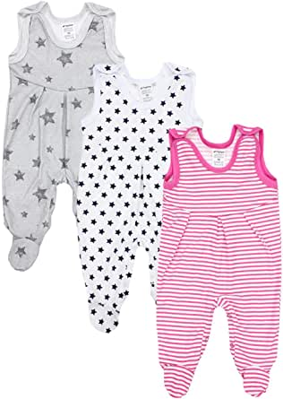 TupTam Peleles para Bebés Niña con Estampados, Pack de 3