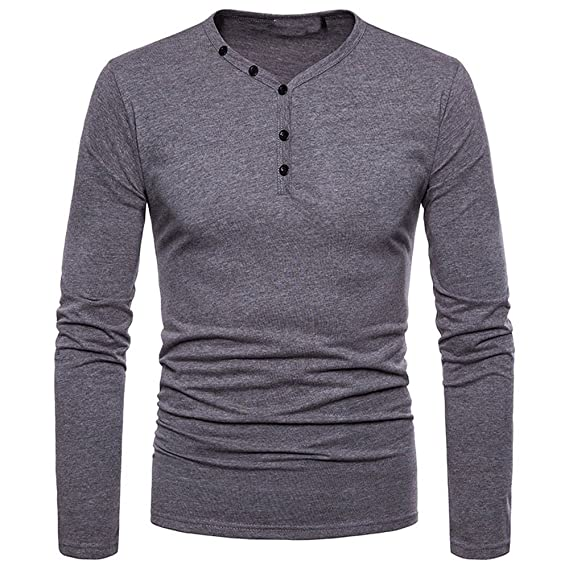 Camisetas Hombre, BBestseller Slim Fit Casual Long Sleeve Solid Shirt Top Blouse Personalidad Camuflaje Hombres